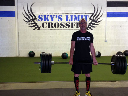 Chris Hinken dead lift PR at Sky's Limit CrossFit